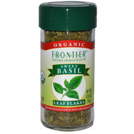 3 PACK of Frontier Natural Products, Organic, Sweet Basil, Leaf Flakes, 0.56 oz (16 g)