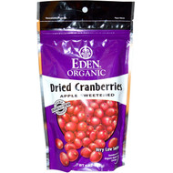 3 PACK of Eden Foods, Organic Dried Cranberries, 4 oz (113 g)