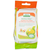 3 PACK of Aleva Naturals, Bamboo Baby Wipes, Pacifier & Toy, 30 Wipes