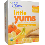 3 PACK of Plum Organics, Little Yums, Organic Teething Wafers, Pumpkin & Banana, 6 Packs, 0.5 oz (14.1 g) Each