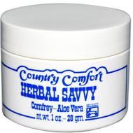 3 PACK of Country Comfort Herbal Savvy Comfrey Aloe Vera -- 1 oz