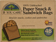 If You Care, Paper Sandwich and Snack Bags - 48 Bags -5 PACK