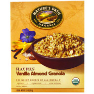 3 PACK of Natures Path, Organic, Flax Plus, Vanilla Almond Granola Cereal, 11.5 oz (325 g)