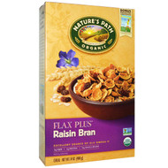3 PACK of Natures Path, Organic, Flax Plus, Raisin Bran Cereal, 14 oz (400 g)