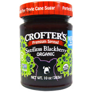 3 PACK of Crofters Organic, Organic Premium Spread, Seedless Blackberry, 10 oz (283 g)
