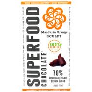 5 PACK of Good Superfoods, SuperFood Chocolate, Mandarin Orange Sculpt, 1.75 oz (50 g)