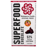 5 PACK of Good Superfoods, Superfood Chocolate, Madagascar Vanilla, 1.75 oz (50 g)