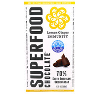5 PACK of Good Superfoods, Superfood Chocolate, Lemon Ginger Immunity, 1.75 oz (50 g)