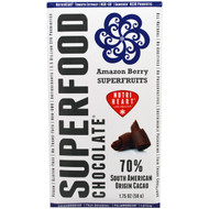 5 PACK of Good Superfoods, Superfood Chocolate, Amazon Berry Superfruits, 1.75 oz (50 g)