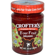 3 PACK of Crofters Organic Fruit Spread Four Fruits -- 10 oz