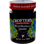 3 PACK of Crofters Organic, Organic, Premium Spread, Wild Blueberry, 10 oz (283 g)