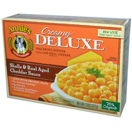 3 PACK of Annies Homegrown, Creamy Deluxe Aged Cheddar, Macaroni & Cheese Sauce, 11 oz (312 g)