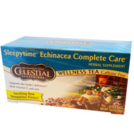 3 PACK of Celestial Seasonings, Wellness Tea, Sleepytime Echinacea Complete Care, Caffeine Free, 20 Tea Bags, 1.2 oz (36 g)