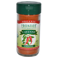 3 PACK of Frontier Natural Products, Organic, Cayenne, Ground, 1.70 oz (48 g)
