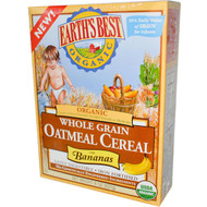 3 PACK of Earths Best, Organic Whole Grain Oatmeal Cereal with Bananas, 8 oz (227 g)