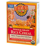 3 PACK of Earths Best, Organic, Whole Grain Rice Cereal, 8 oz (227 g)
