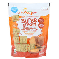 3 PACK OF Happy Family Organics, Happy Tot, Super Smart, Multi-Grain Alphabet Snacks, Organic Cinnamon Sweet Potato + Flaxseed, 4.4 oz (125 g)