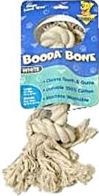 Booda, 2 Knot Rope Bone Dog Tug Toy White Large - 1 Toy
