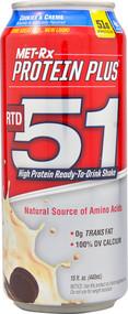 3 PACK of MET-Rx RTD 51 Cookies & Creme -- 15 fl oz