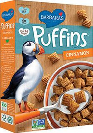 3 PACK of Barbaras Puffins Cereal Cinnamon -- 10 oz