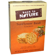 5 PACK of Back to Nature, Sunflower Basil Crackers, 6.5 oz (184 g)