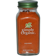 3 PACK OF Simply Organic, Cayenne, 2.89 oz (82 g)