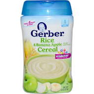3 PACK of Gerber, Rice & Banana Apple Cereal, 8 oz (227 g)