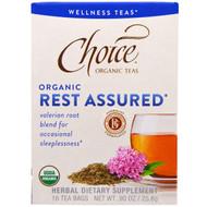 3 PACK of Choice Organic Teas, Wellness Teas, Organic, Rest Assured , 16 Tea Bags, 0.90 oz (25.6 g)