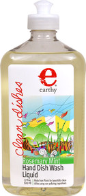 Earthy Clean Dishes Hand Dish Wash Liquid Rosemary Mint - 17 fl oz