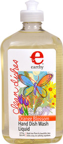 Earthy Clean Dishes Hand Dish Wash Liquid Orange Blossom - 17 fl oz