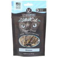 3 PACK OF Vital Essentials, Vital Cat, Freeze-Dried Treats For Cats, Minnows, 0.5 oz (14.2 g)