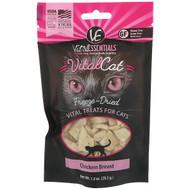 Vital Essentials, Vital Cat, Freeze-Dried Treats For Cats, Chicken Breast, 1.0 oz (28.3 g)