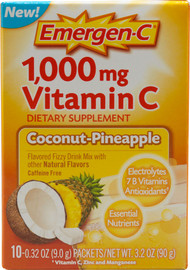 3 Pack of Emergen-C Vitamin C Coconut Pineapple - 1000 mg - 10 Packets