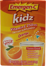 3 Pack of Emergen-C Kidz Vitamin C Fizzy Drink Mix Orange - 250 mg - 10 Packets