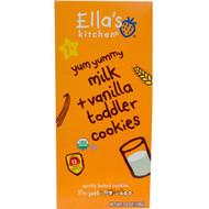 Ellas Kitchen, Toddler Cookies, Milk + Vanilla, 12 Packs, 9 g Each