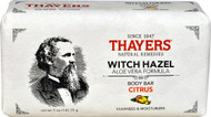 5 PACK of Thayers Witch Hazel Aloe Vera Formula Body Bar Citrus - 5 oz