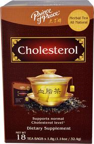 3 PACK of Prince of Peace All Natural Herbal Tea Cholesterol -- 18 Tea Bags