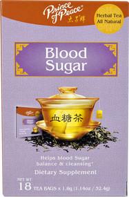 3 PACK of Prince of Peace All Natural Herbal Tea Blood Sugar -- 18 Tea Bags