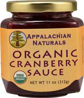 5 PACK of Appalachian Naturals Organic Cranberry Sauce - 11 oz