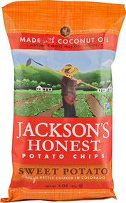 Jacksons Honest, Coconut Oil Potato Chips,  Sweet Potato - 5 oz -5 PACK