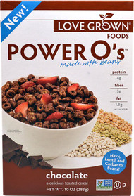 Love Grown Foods, Power Os Cereal,  Chocolate - 10 oz -5 PACK