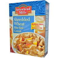 3 PACK of Arrowhead Mills, Shredded Wheat, Bite Size Cereal, 12 oz (340 g)