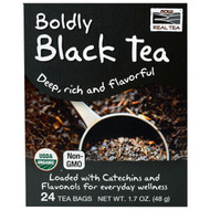 3 PACK OF Now Foods, Organic Real Tea, Boldly Black Tea, 24 Tea Bags, 1.7 oz (48 g)
