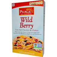 3 PACK of Peace Cereal, Low Fat Clusters & Flakes, Wild Berry, 10 oz (284 g)