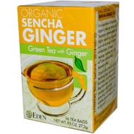 3 PACK of Eden Foods, Organic Sencha Ginger, Green Tea with Ginger, 16 Tea Bags, .95 oz (27.2 g)