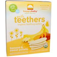 3 PACK of Nurture Inc. (Happy Baby), Organic Teethers, Gentle Teething Wafers, Sweet Potato & Banana, 12 Packs, 0.14 oz (4 g) Each