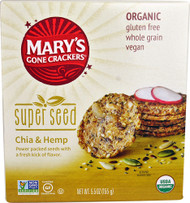 5 PACK of Marys Gone Crackers Super Seed Crackers  Chia & Hemp - 5.5 oz