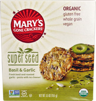 5 PACK of Marys Gone Crackers Super Seed Crackers  Basil & Garlic - 5.5 oz