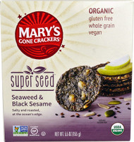 5 PACK of Marys Gone Crackers Super Seed Crackers  Seaweed & Black Sesame - 5.5 oz