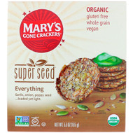 3 PACK OF Marys Gone Crackers, Super Seed Crackers, Everything, 5.5 oz (155 g)